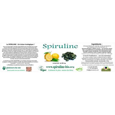 Spiruline Bio Comprimés au Citron 100 gr